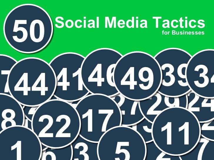 50 Social Media Tactics for Businesses