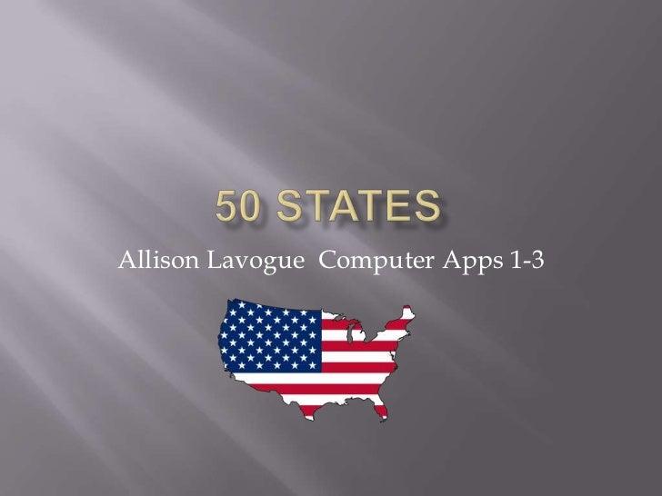 Allison Lavogue Computer Apps 1-3