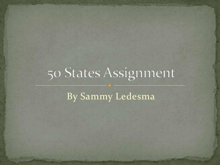 By Sammy Ledesma