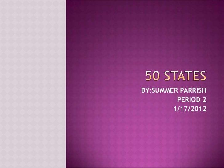 50 states summer parrish assignment