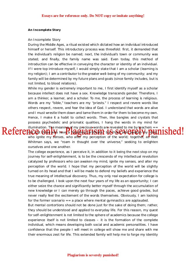 High School Entrance Essays  Classification Essay Thesis Statement also Science Fiction Essays Www Essay On National Integration Com Reflective Essay Sample Paper
