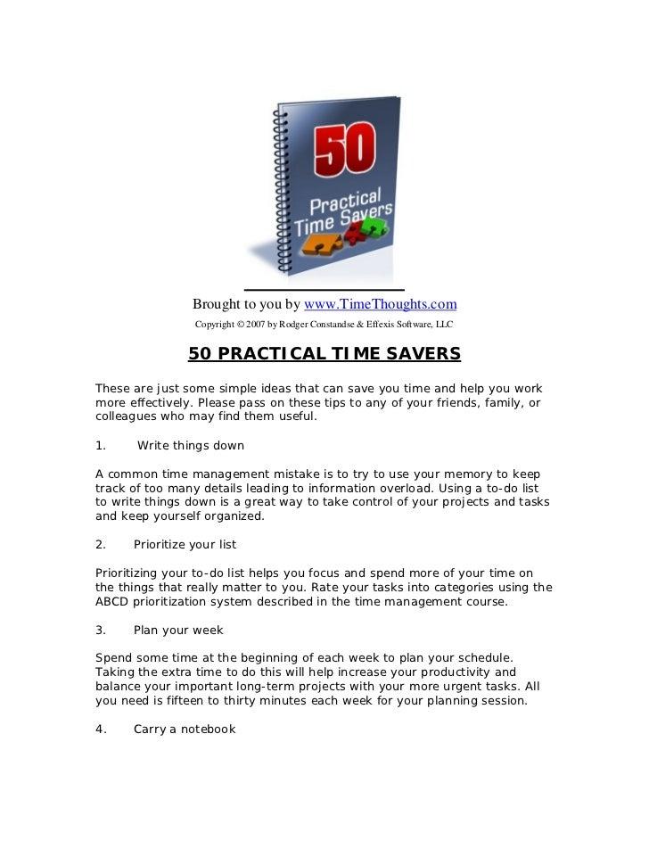 50 timesavers