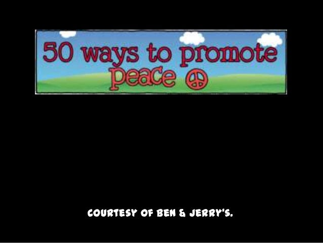 50 Ways to Promote Peace