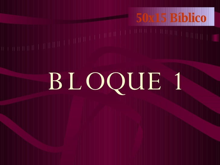 50x15 Bíblico BLOQUE 1