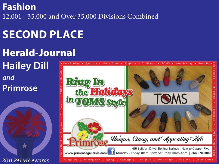 Fashion12,001 - 35,000 and Over 35,000 Divisions CombinedSECOND PLACEHerald-JournalHailey DillandPrimrose                 ...