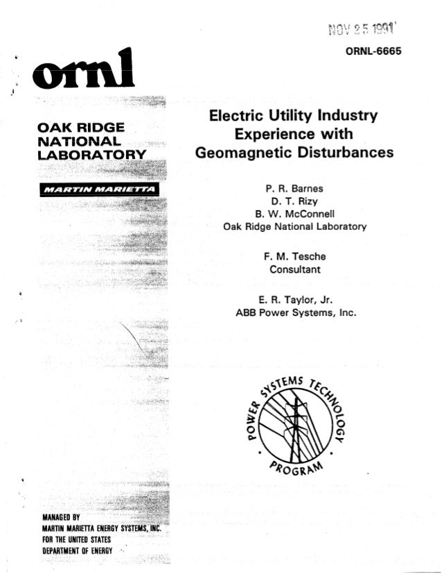 Electric utility industry experience with geomagnetic disturbances