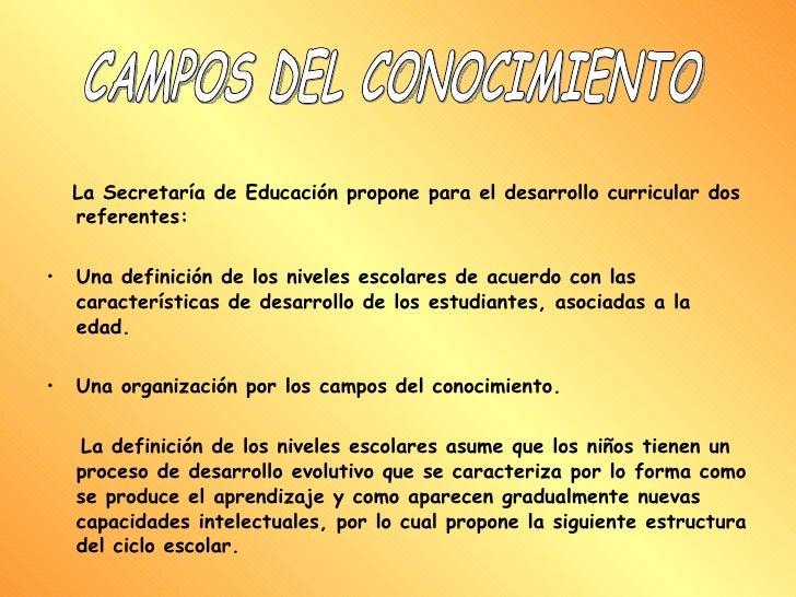 <ul><li>La Secretaría de Educación propone para el desarrollo curricular dos referentes: </li></ul><ul><li>Una definición ...