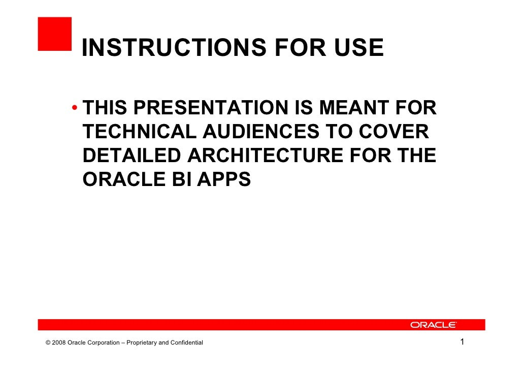 INSTRUCTIONS FOR USE         • THIS PRESENTATION IS MEANT FOR           TECHNICAL AUDIENCES TO COVER           DETAILED AR...