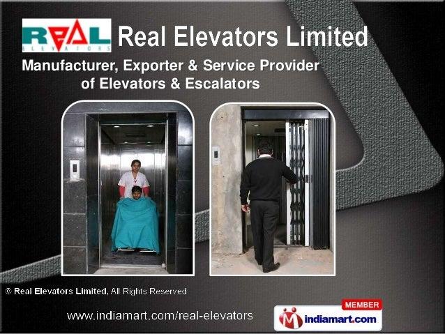 Manufacturer, Exporter & Service Provider       of Elevators & Escalators