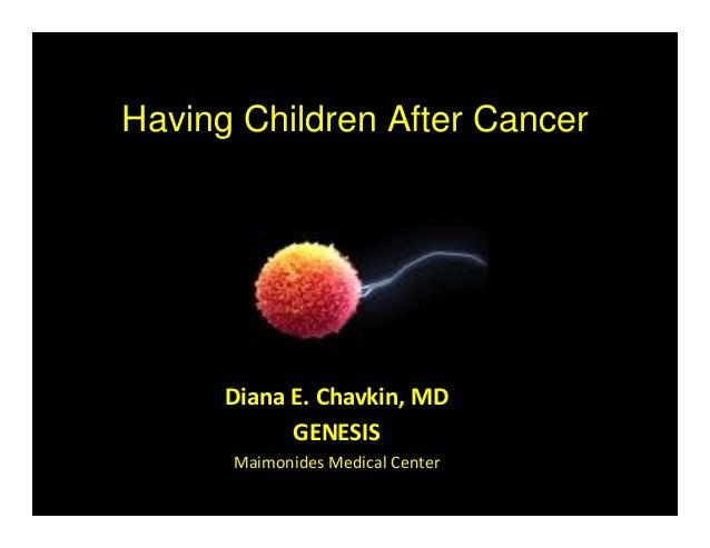 Having Children After Cancer Diana E. Chavkin, MD GENESIS Maimonides Medical Center