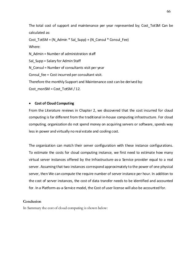 Master thesis maintenance