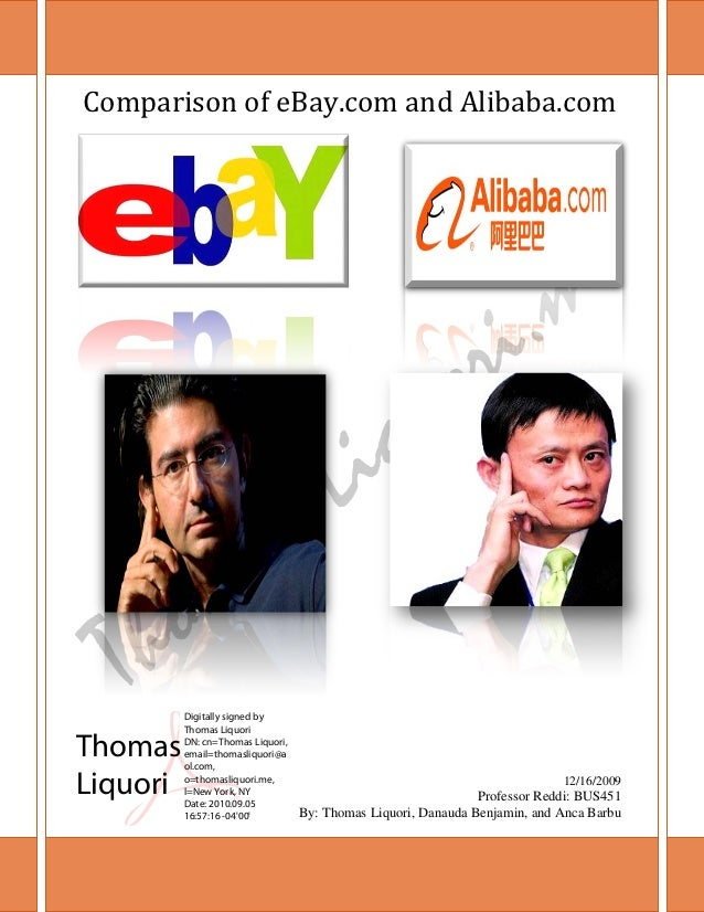Comparison of eBay.com and Alibaba.com