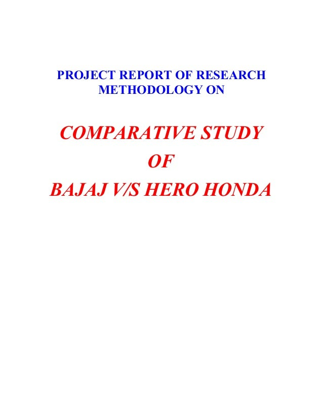 project report on hero honda Hero motocorp ltd, formerly hero honda, is an indian motorcycle and scooter manufacturer based in new delhi, india the company is the largest manufacturer of two-wheeled vehicles in the world, and also in india, where it has a market share of about 46% in the two-wheeled category.
