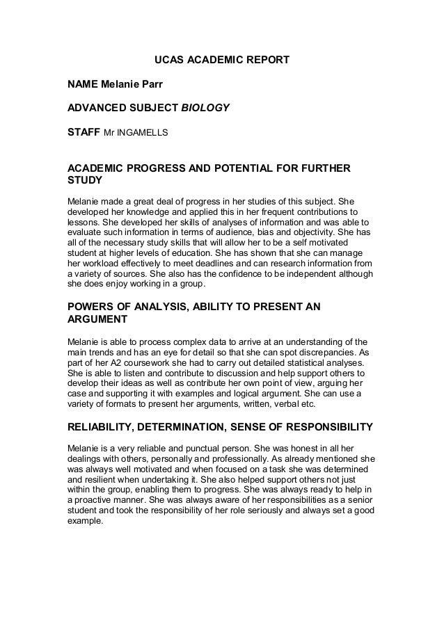 reference letter for ucas application