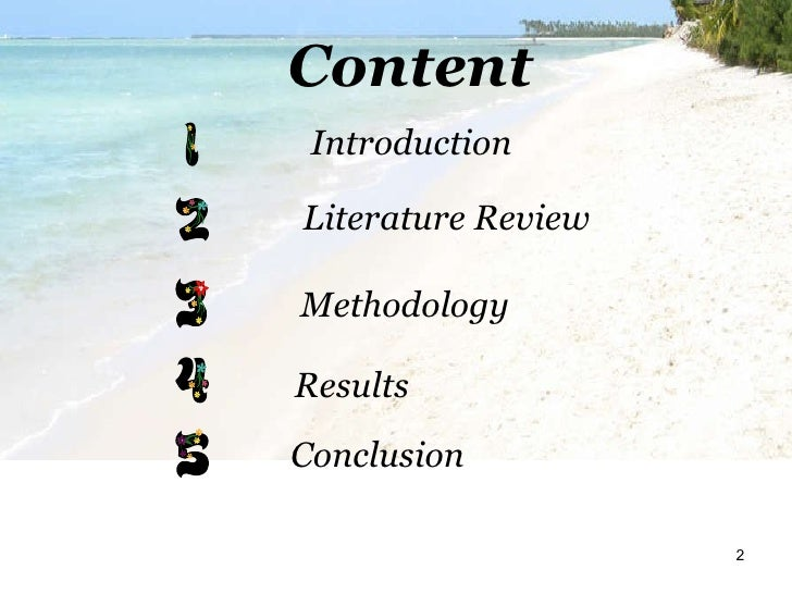 Literature Review Format Ppt