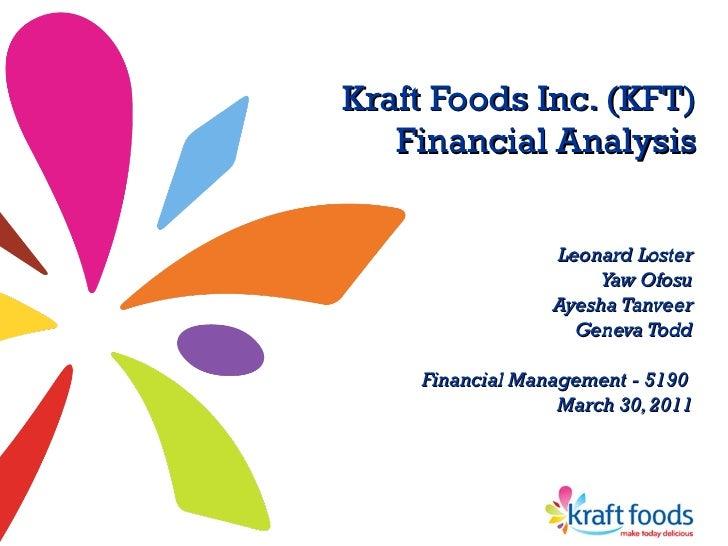 Kraft Foods M;a