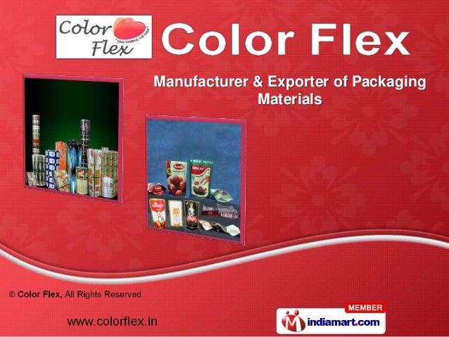 Manufacturer & Exporter of Packaging             Materials