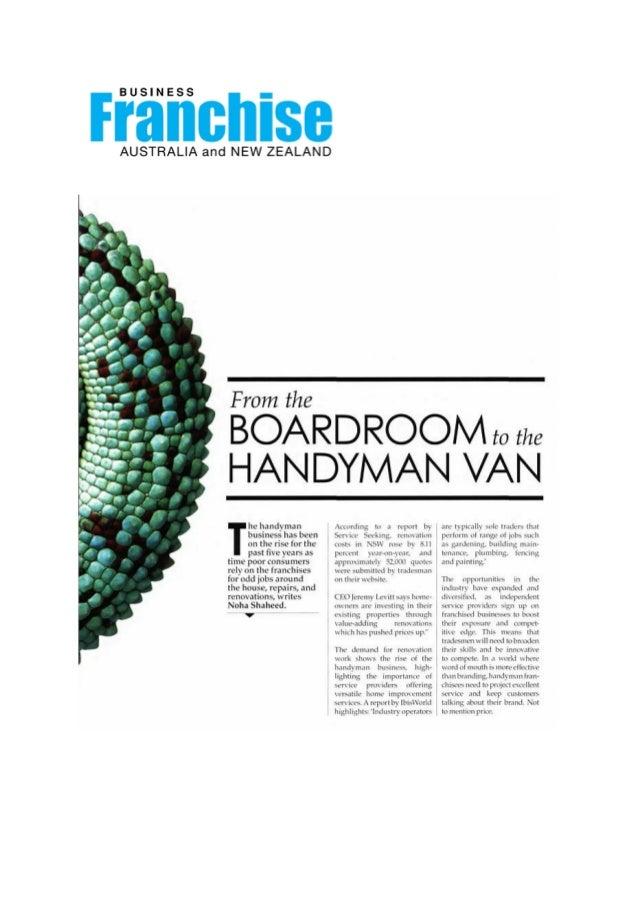 Business Franchise Magazine