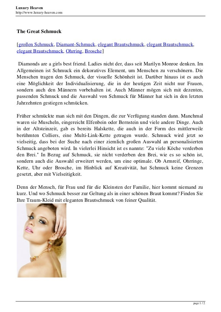 Luxury Heavenhttp://www.luxury-heaven.comThe Great Schmuck[großen Schmuck, Diamant-Schmuck, elegant Brautschmuck, elegant ...