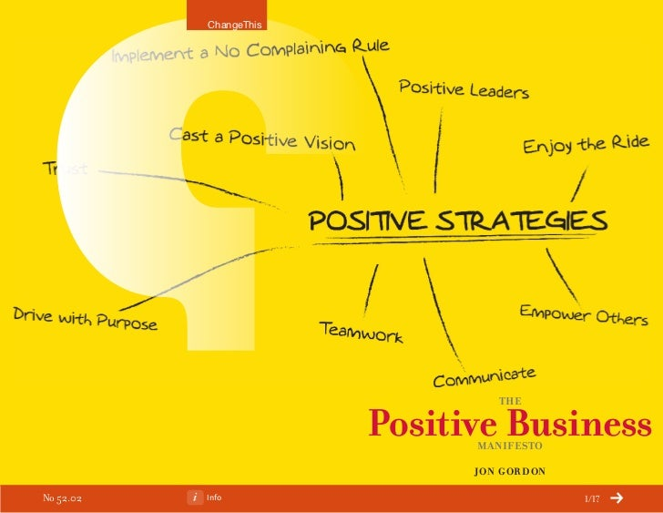 ChangeThis                                  the                        Positive Business                              Mani...