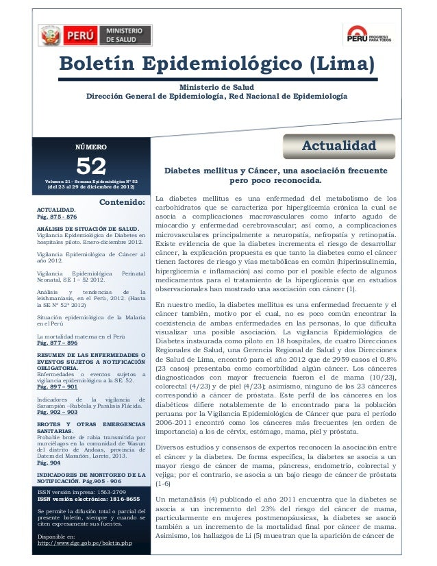 Bol. Epidemiol. (Lima) 21 (52)   2012  A         Boletín Epidemiológico (Lima)                                           M...