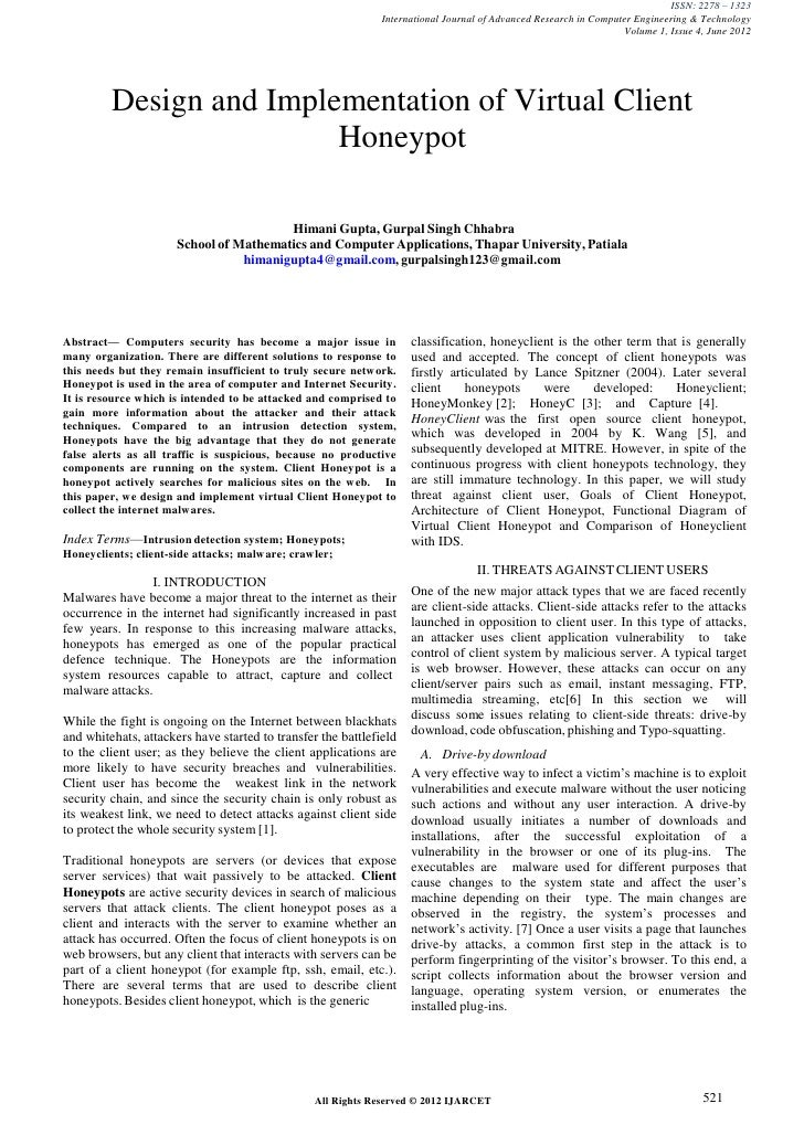 ISSN: 2278 – 1323                                                              International Journal of Advanced Research ...