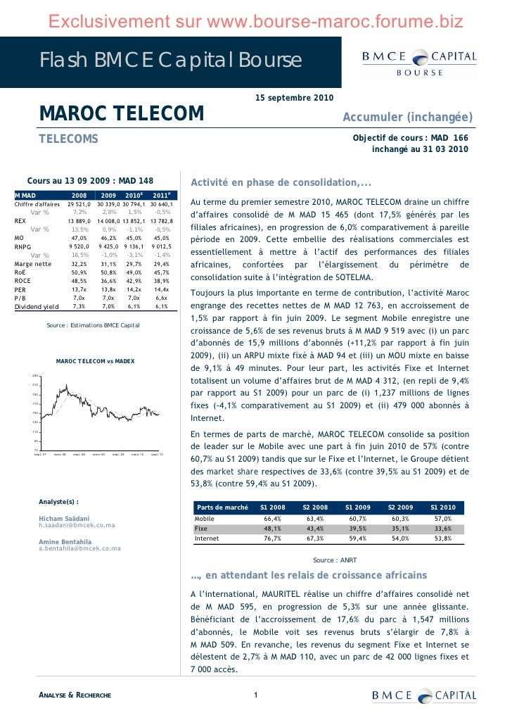 Exclusivement sur www.bourse-maroc.forume.biz               Flash BMCE Capital Bourse                                     ...