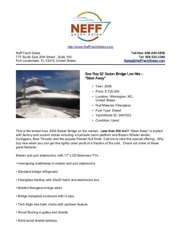 52' 2006 sea ray 52 sedan bridge yacht for sale   neff yacht sales