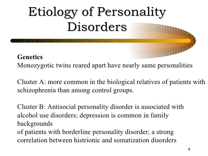 a description of the different types of personality disorders Personality disorders are generally divided into three major clusters the personality disorders in cluster a include paranoid.