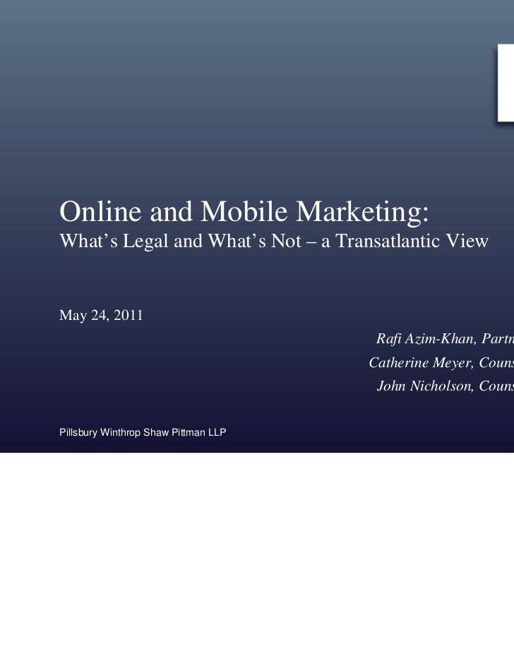 5 24 11 Online Marketing Privacy Presentation
