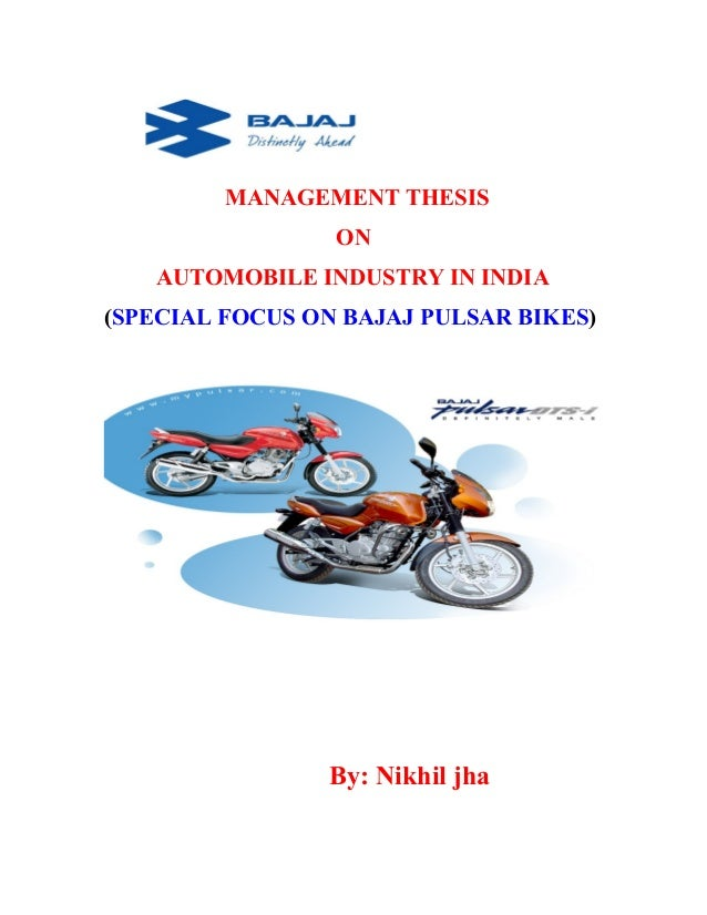 Thesis on auto industry