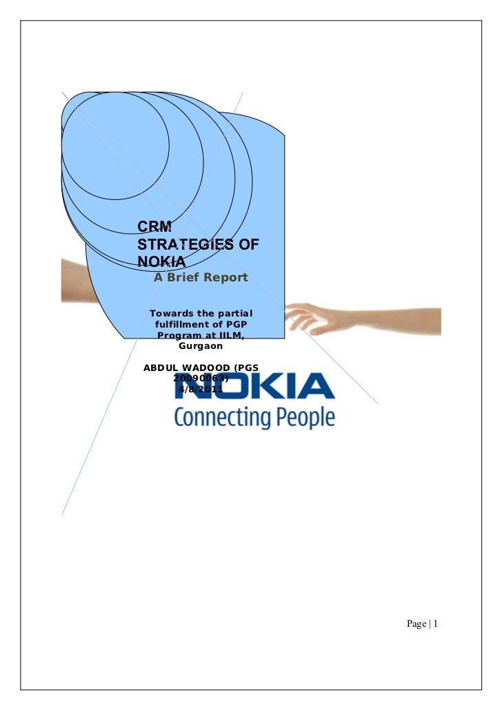 52570415 crm-final-report on nokia