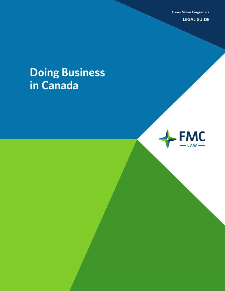 Doing Business in Canada by FMC Law