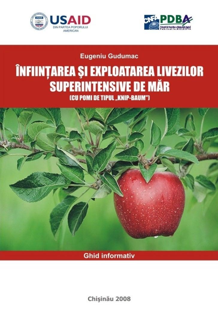"""ÎNFIINŢAREA ŞI EXPLOATAREA   LIVEZILOR SUPERINTENSIVE DE MĂR                     (CU POMI DE TIPUL """"KNIP-BAUM"""")           ..."""