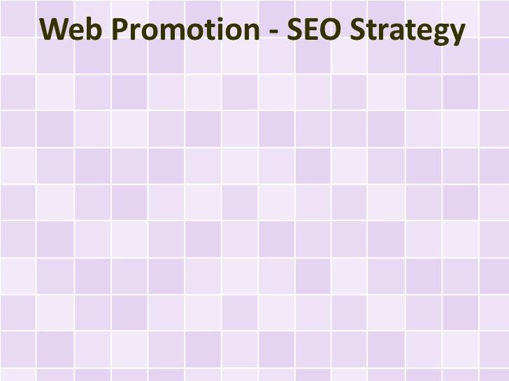 Web Promotion - SEO Strategy