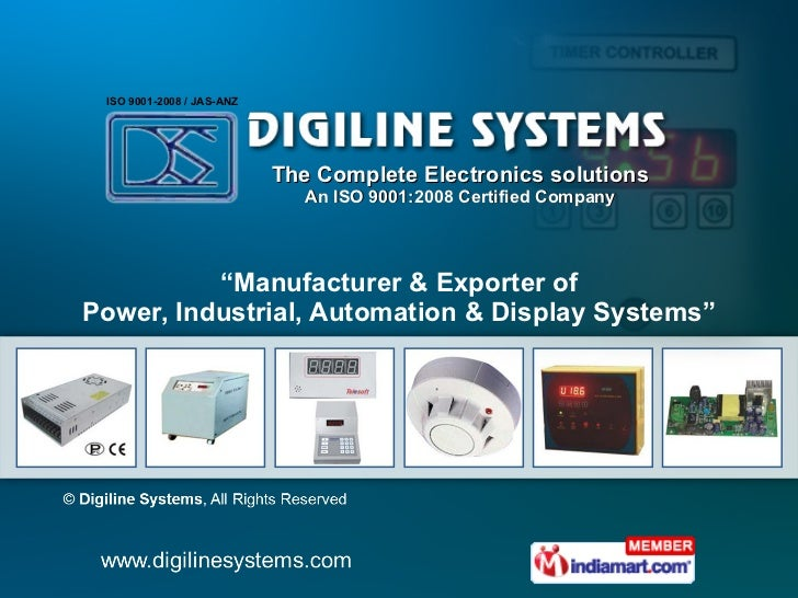 """The Complete Electronics solutions An ISO 9001:2008 Certified Company """" Manufacturer & Exporter of Power, Industrial, Auto..."""