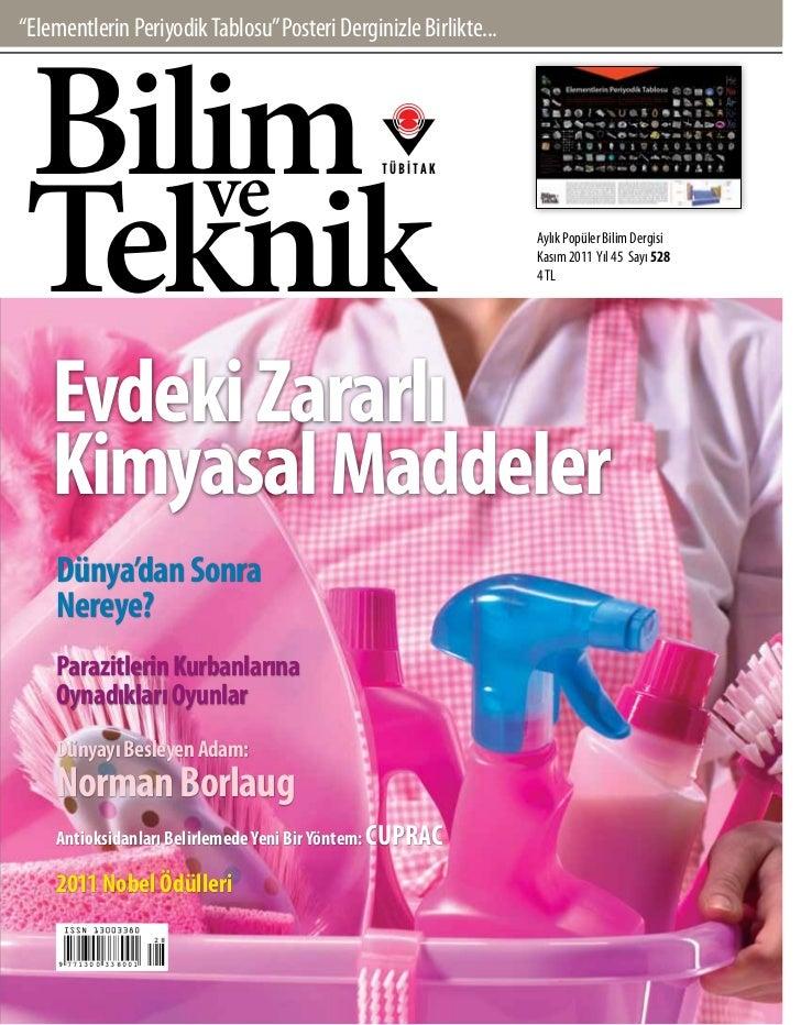 Bilim Teknik Dergisi 2011 Kasım
