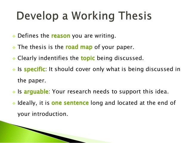 Research paper with thesis