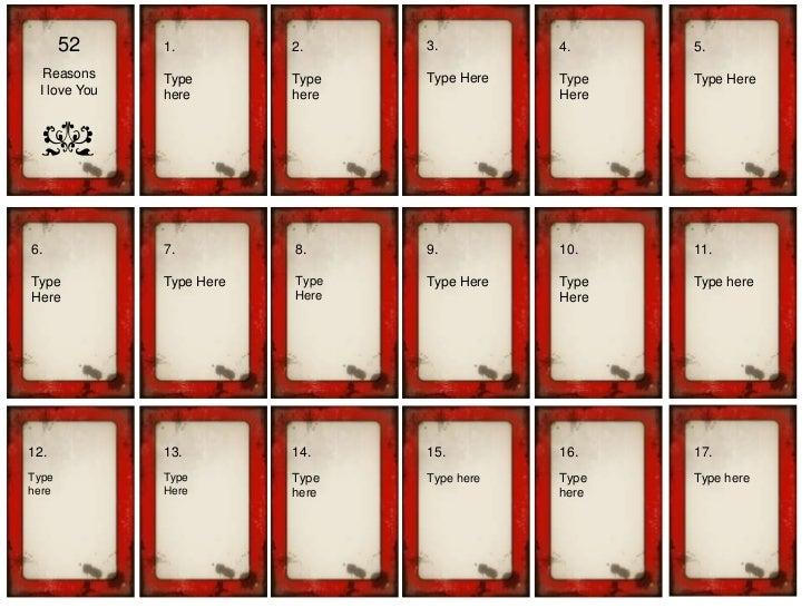 52 reasons i love you blank