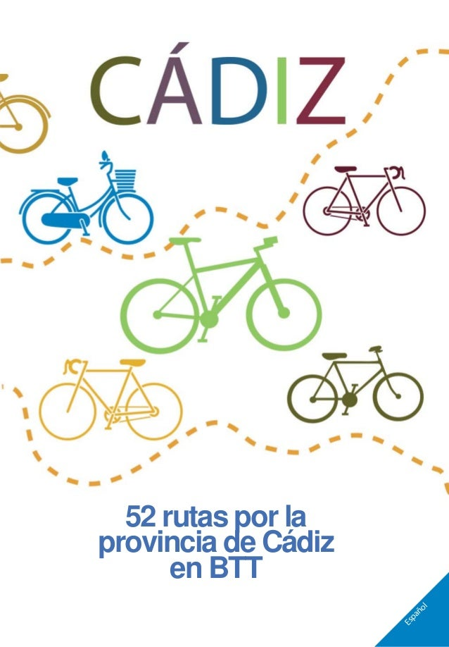 Español 52 rutas por la provincia de Cádiz en BTT