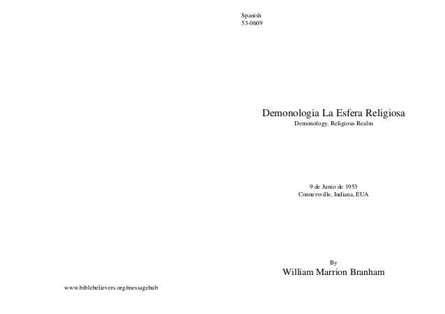 Spanish                                    53-0609                                          Demonologia La Esfera Religios...