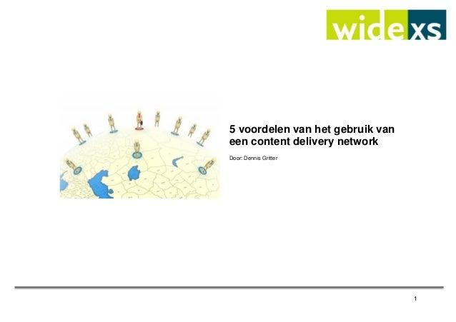 53. 5 voordelen van het gebruik van een content delivery network