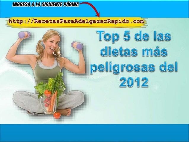 • Durante el 2012 hemos hablado acerca de diversas dietas milagrosas de las cuales es conveniente alejarnos si queremos ad...