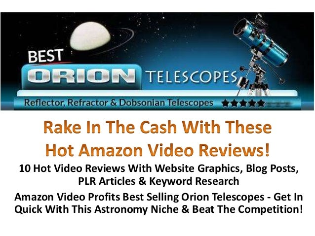 10 Hot Video Reviews With Website Graphics, Blog Posts,            PLR Articles & Keyword ResearchAmazon Video Profits Bes...