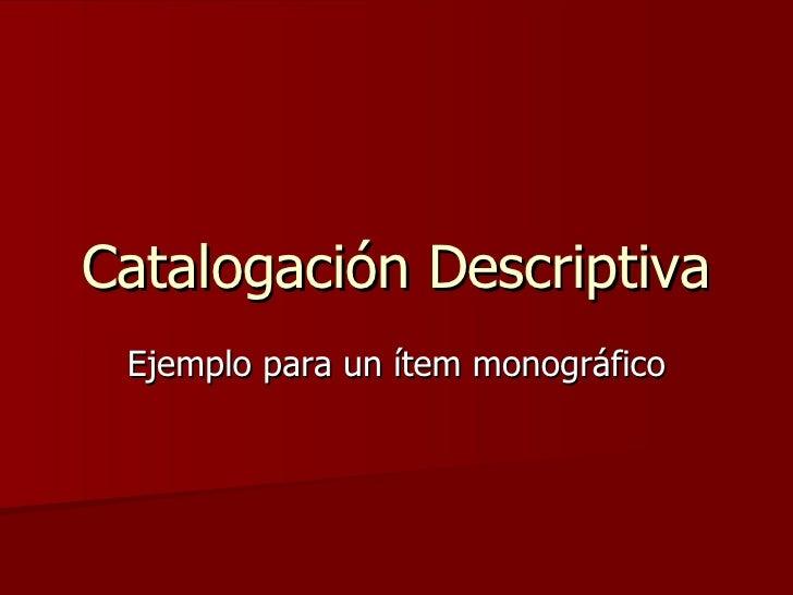 5300.09.Catalogacion.Desc.Paso A Paso
