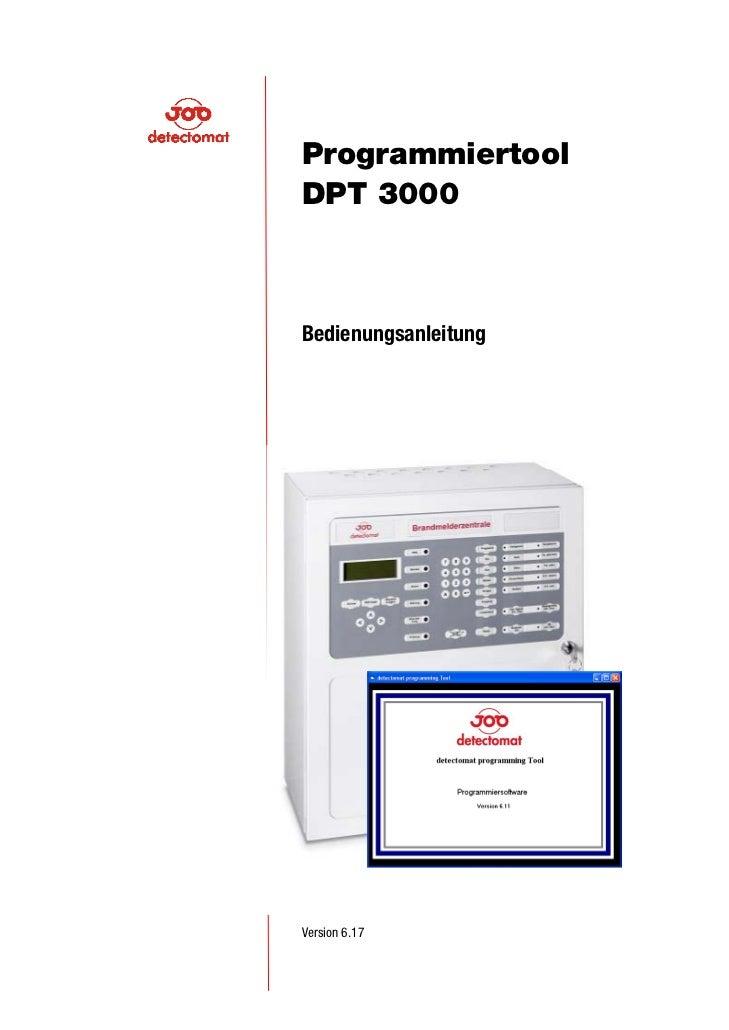 ProgrammiertoolDPT 3000BedienungsanleitungVersion 6.17