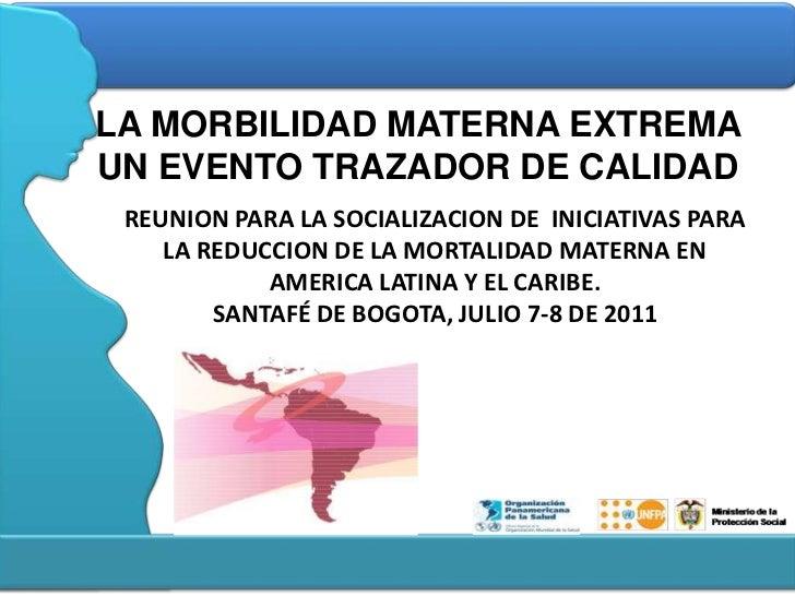 Estrategias para la reducción de la morbi mortalidad materna en Colombia - CICAT-SALUD