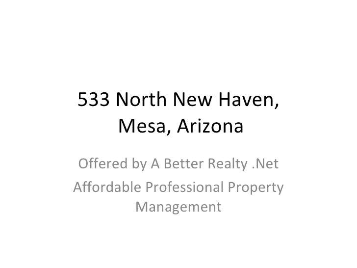 533 North New Haven Mesa Arizona