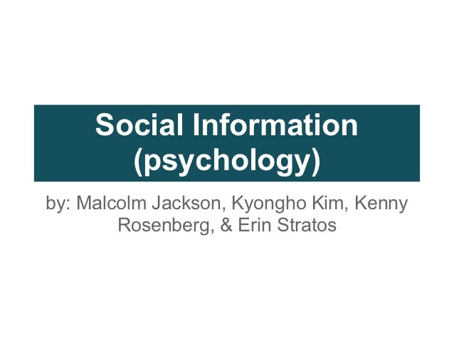 Applications of Social Information Theory