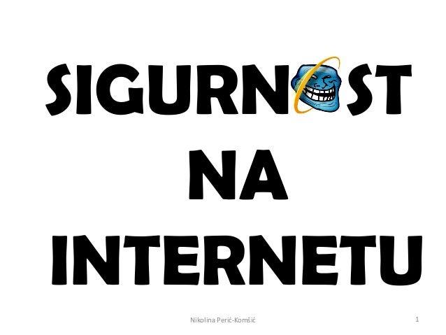 534 sigurnost na internetu nikolina peric_komsic